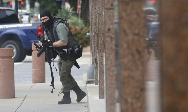 Gunman shot dead after opening fire on federal courthouse in downtown Dallas