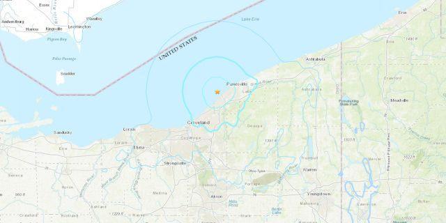Rare 4.0 quake strikes near Cleveland, Ohio in Lake Erie – Nearly 6,000 reported feeling the quake