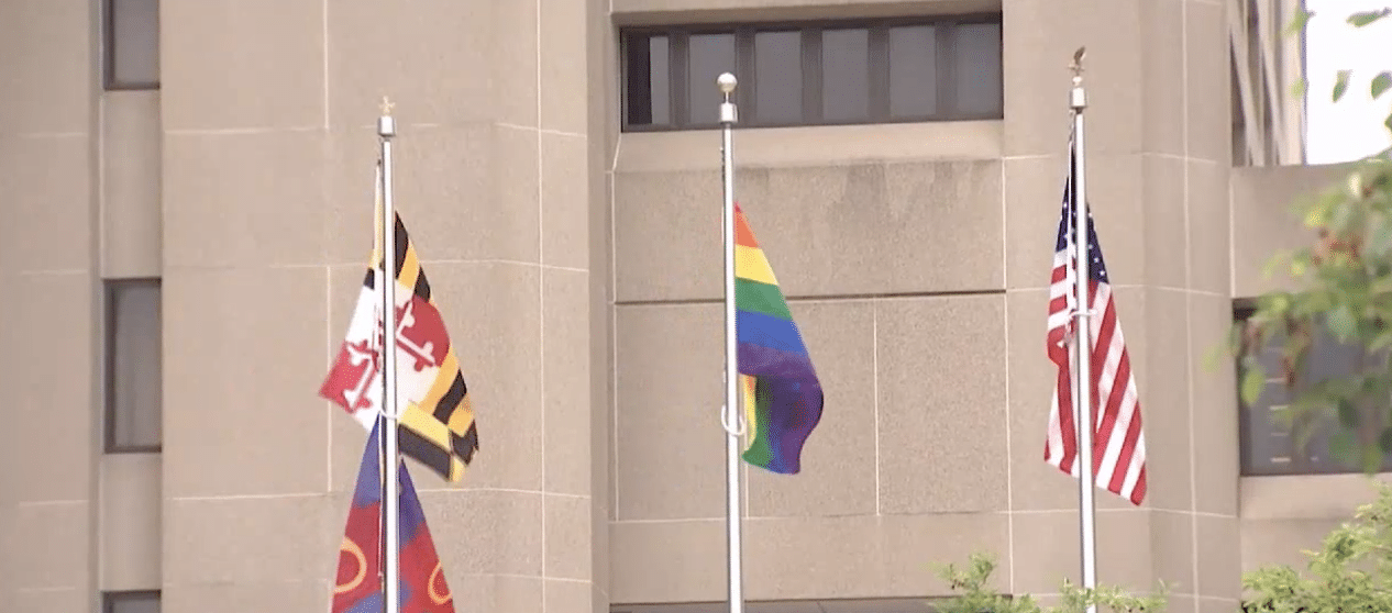 Pride Flag Replaces POW/MIA Flag at Montgomery County Executive Building in Maryland