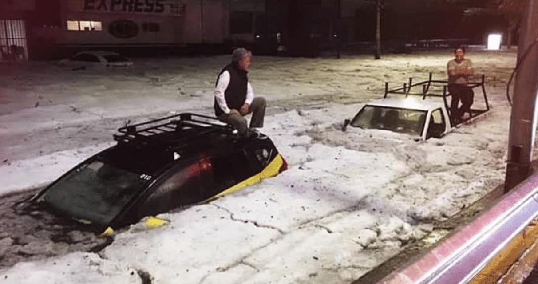 Freak hailstorm buries major Mexico city under FIVE FEET of ice