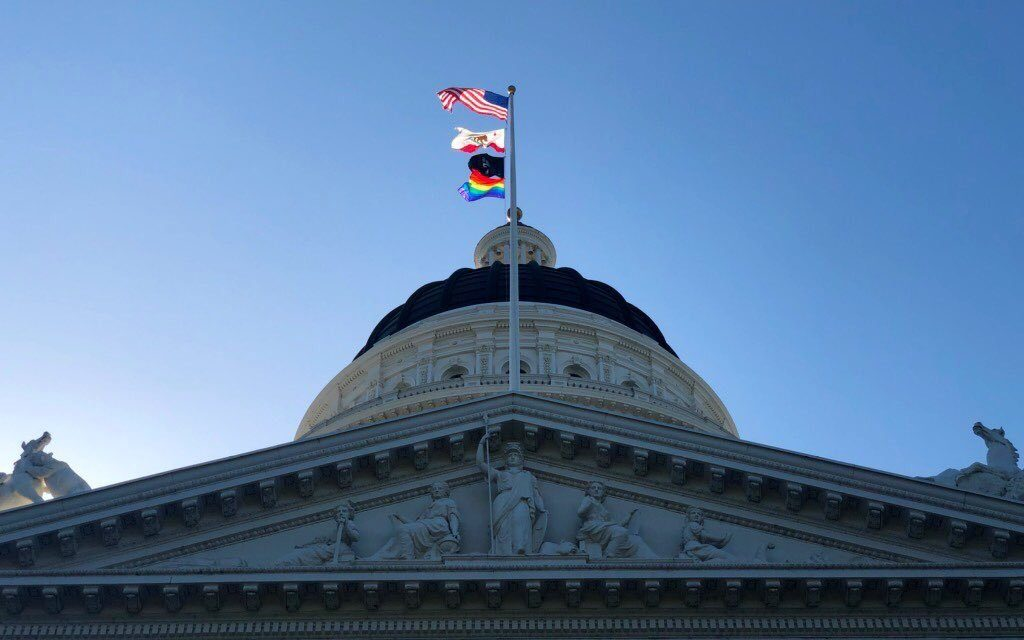 LGBTQ Pride Flag Flies Over State Capitol in Sacramento for 1st Time Ever