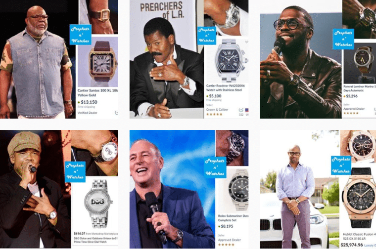 Celebrity preachers under fire for wearing expensive watches