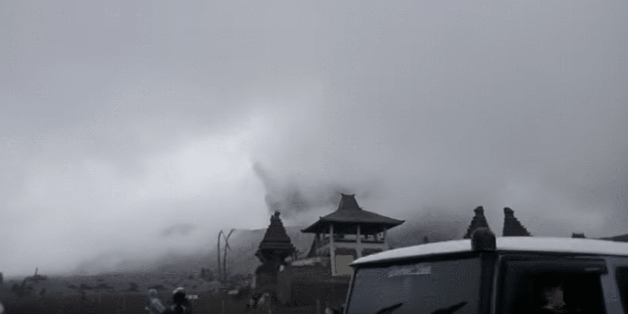 Mount Bromo erupts in Indonesia sparking panic among residents