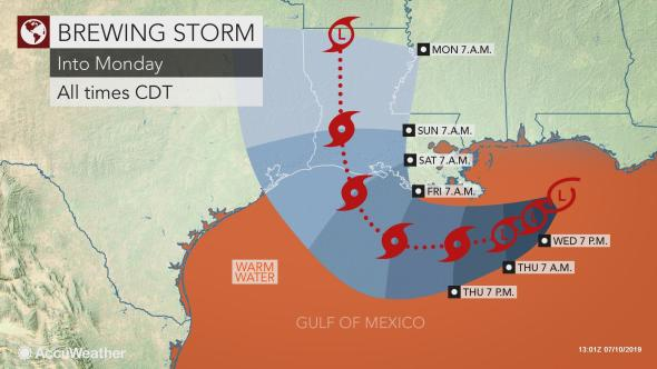 DEVELOPING: Tropical Storm could bring up to 2 feet of rain to Southern states of the US