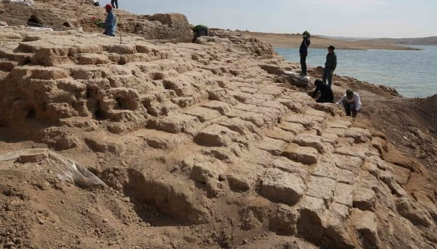 Ancient palace emerges from drought-stricken Iraq reservoir