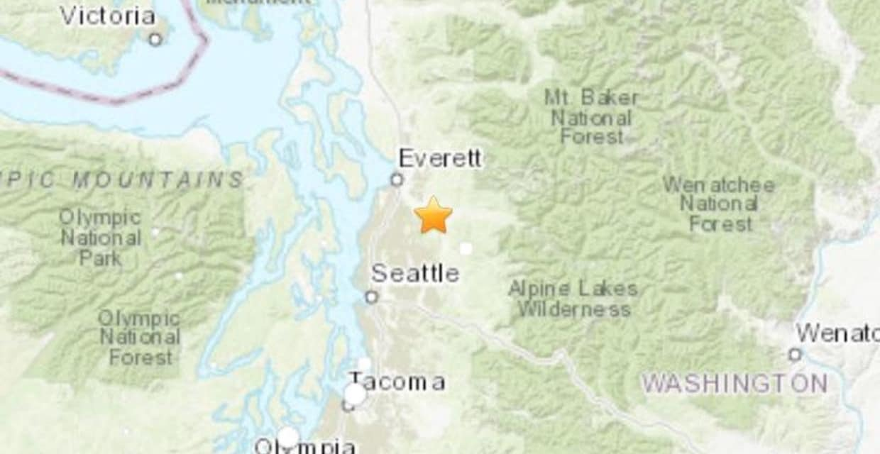 Magnitude 4.6 Earthquake rattles Seattle area, followed by aftershock