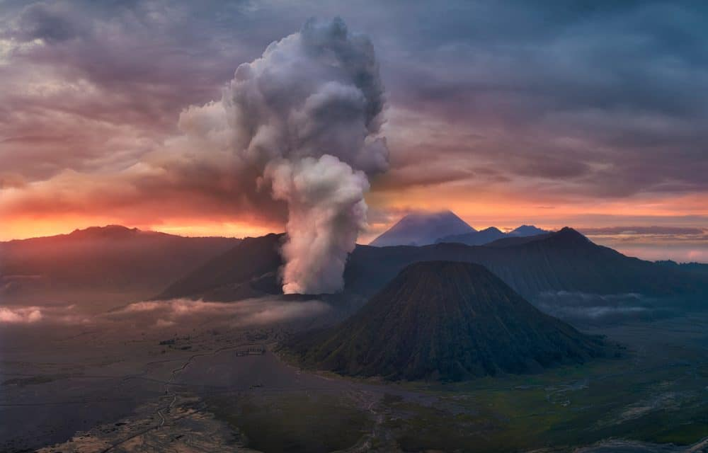 Volcanic Eruption in Indonesia Sends Ash Plume 650 Feet Into The Air