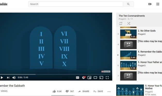 YouTube blocks PragerU Ten Commandments videos, restricts to 'mature audiences'