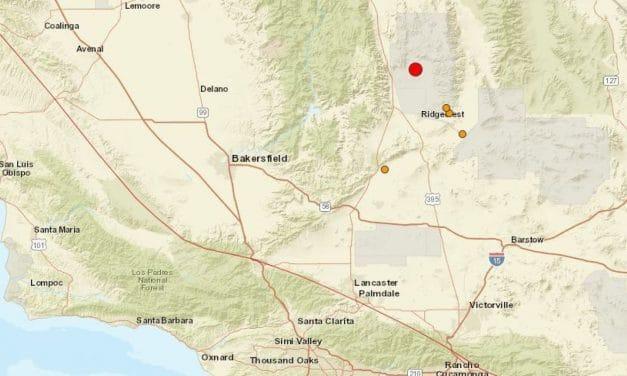 5.0 earthquake strikes outside of Ridgecrest, CA in Little Lake