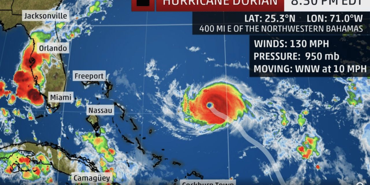 Hurricane Dorian Becomes Deadly Category 4 Hurricane, 130 Mph Winds