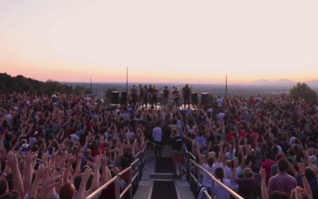 4,000 Liberty University Students Gather at Sunset for Spontaneous Worship