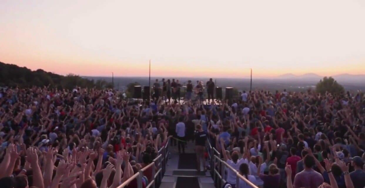 4,000 Liberty University Students Gather at Sunset for Spontaneous Worship