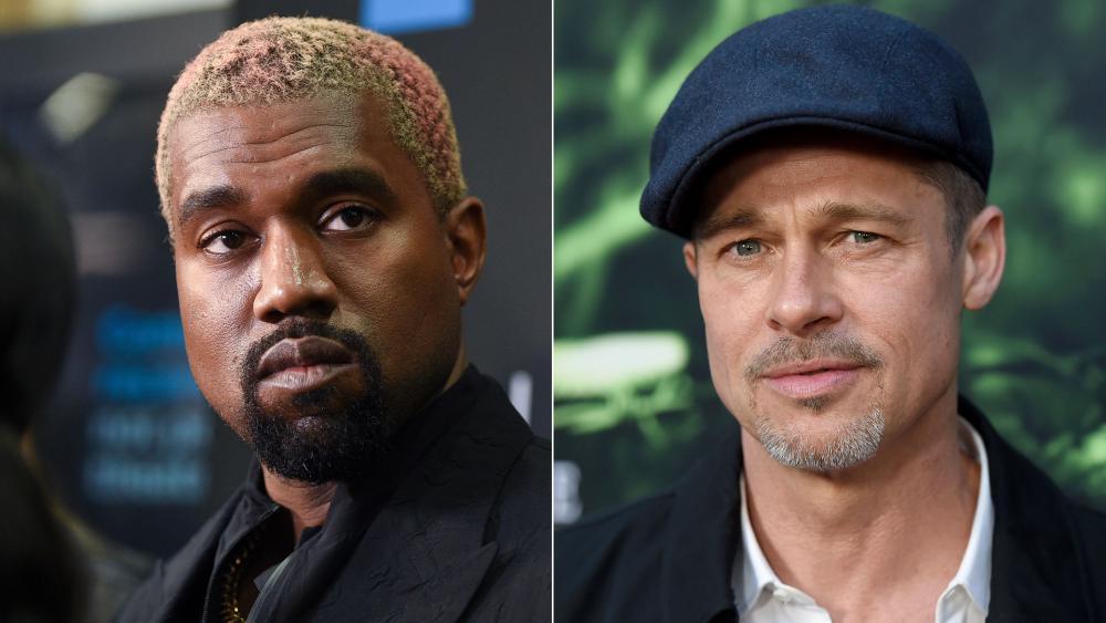 Brad Pitt Praises Kanye West's Sunday Services and Talks About Faith