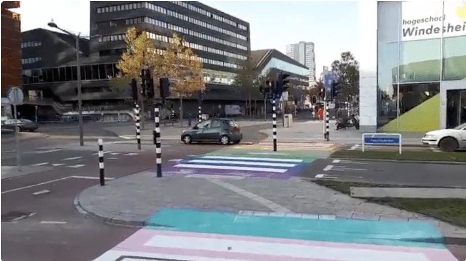 Dutch city unveils world's first 'transgender crosswalk'