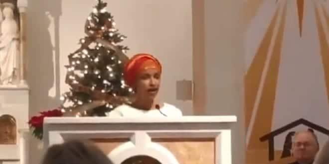 Ilhan Omar Leads Catholic Church in Muslim Prayer