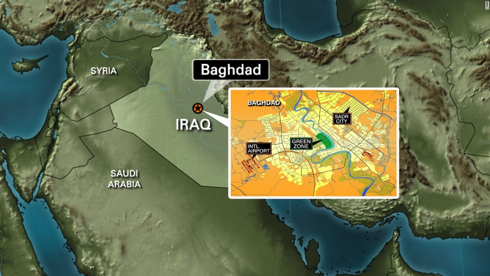 Two rockets have been fired into Baghdad's heavily fortified Green Zone