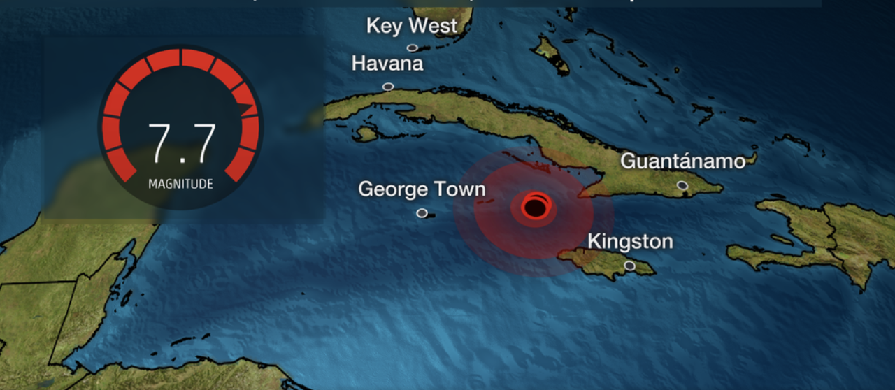7.7 Earthquake was so powerful it shook buildings in Miami, Florida