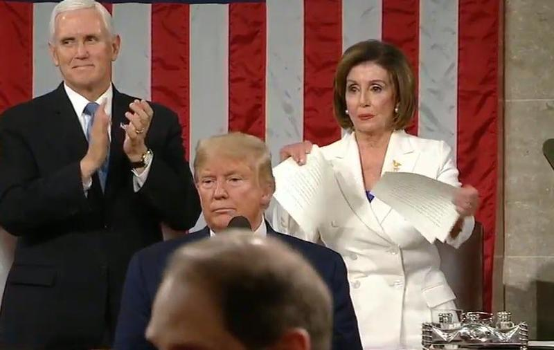 Was Pelosi Ripping Trump's Speech In Half A Harbinger Of What Is About To Happen To America During This Election?