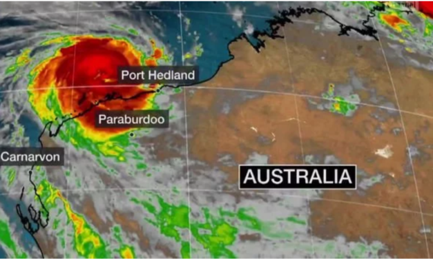 Tropical Cyclone Damien slams into Australia with 134mph winds and dangerous tides