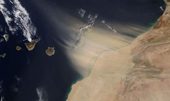 Canary Islands engulfed by 'apocalyptic' sandstorm visible from space
