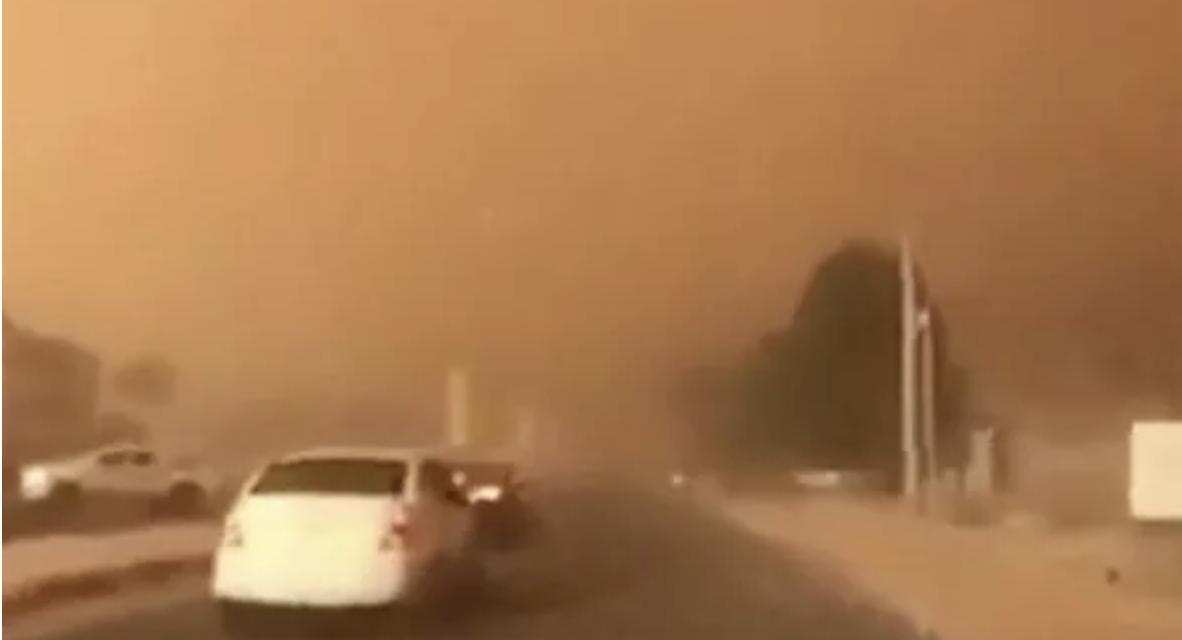 Freak biblical weather sparks apocalyptic warnings as sandstorm blocks sun in Middle East