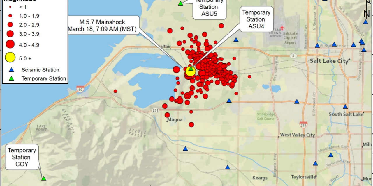 3.2 aftershock shakes Salt Lake Valley nearly one week after large earthquake