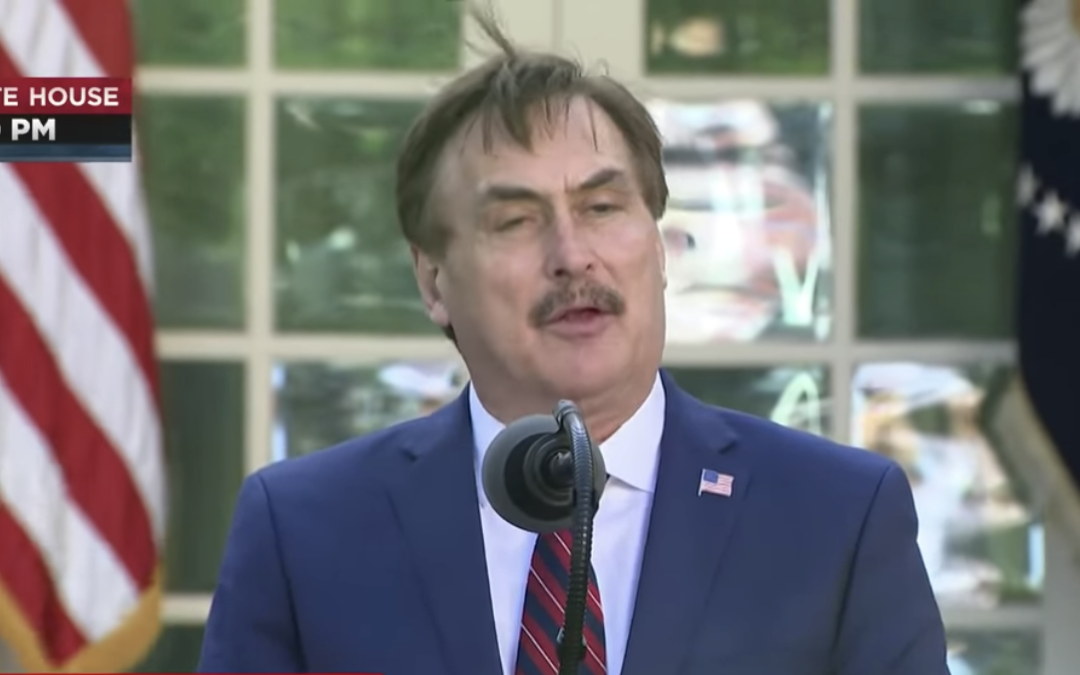 My Pillow CEO calls on Americans to turn to God and the Bible from the White House lawn