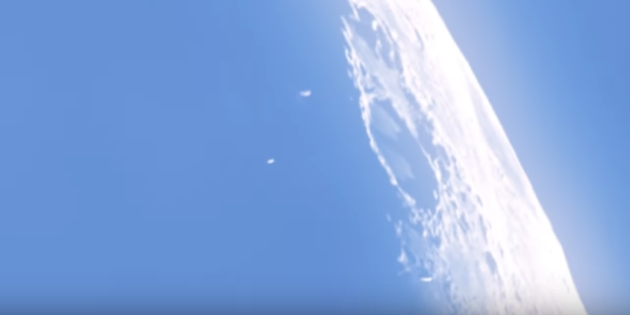 Mysterious objects seen hovering over surface of the Moon