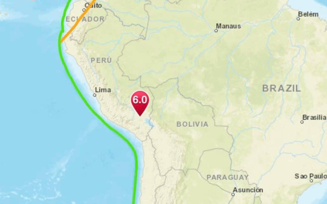 Strong 6.0 Earthquake Strikes Peru