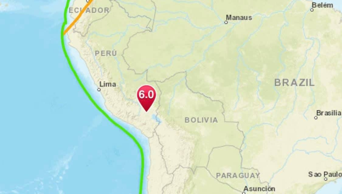 Strong 6.0 Earthquake Strikes Peru