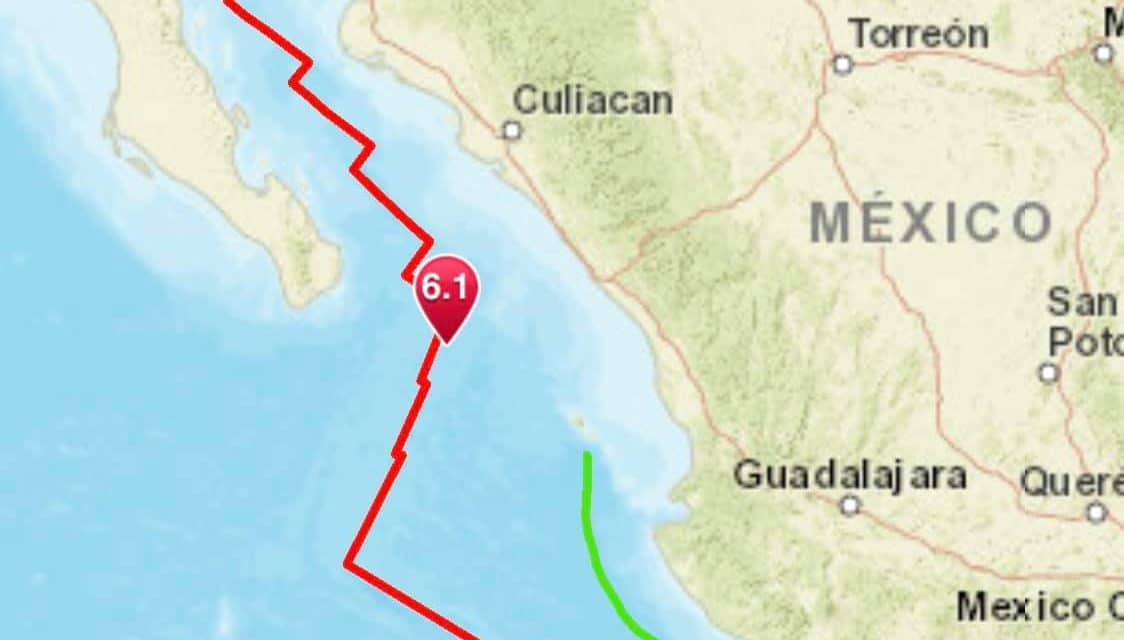 Magnitude 6.1 earthquake strikes off the coast of Mexico