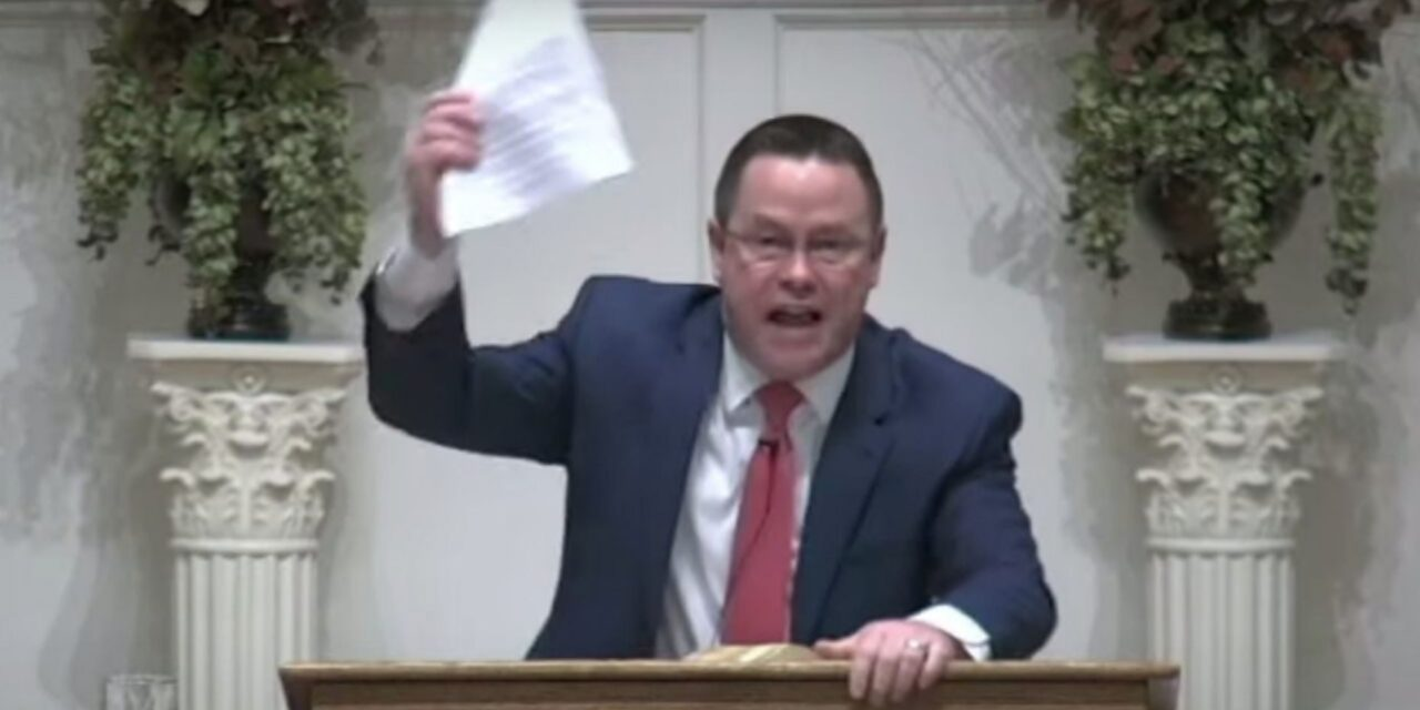 Baltimore pastor rips up cease-and-desist letter mid-sermon: 'We're gonna do it God's way!'