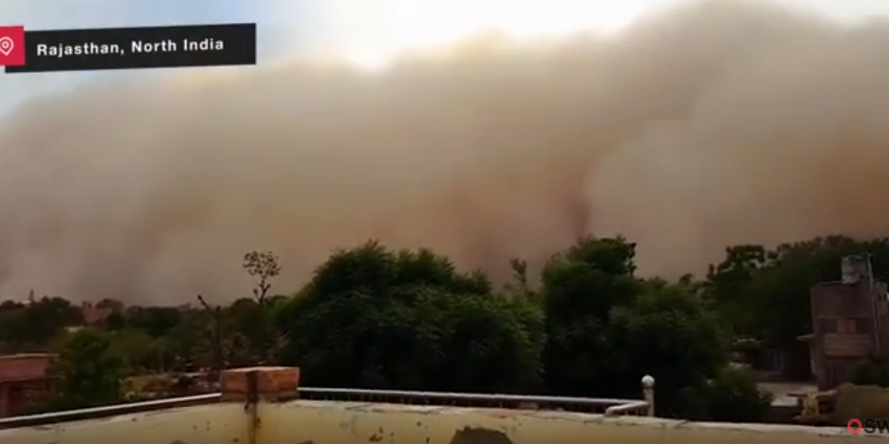 Giant sandstorm swallows city in India