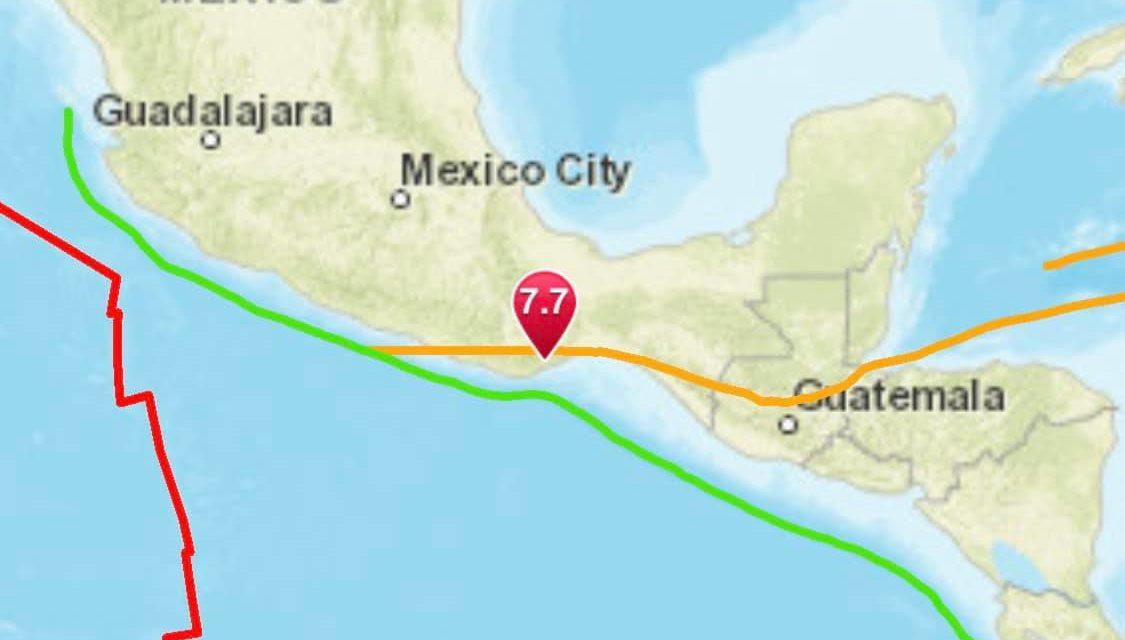 Huge Magnitude 7.4 Earthquake Strikes Santa María Zapotitlán, Mexico