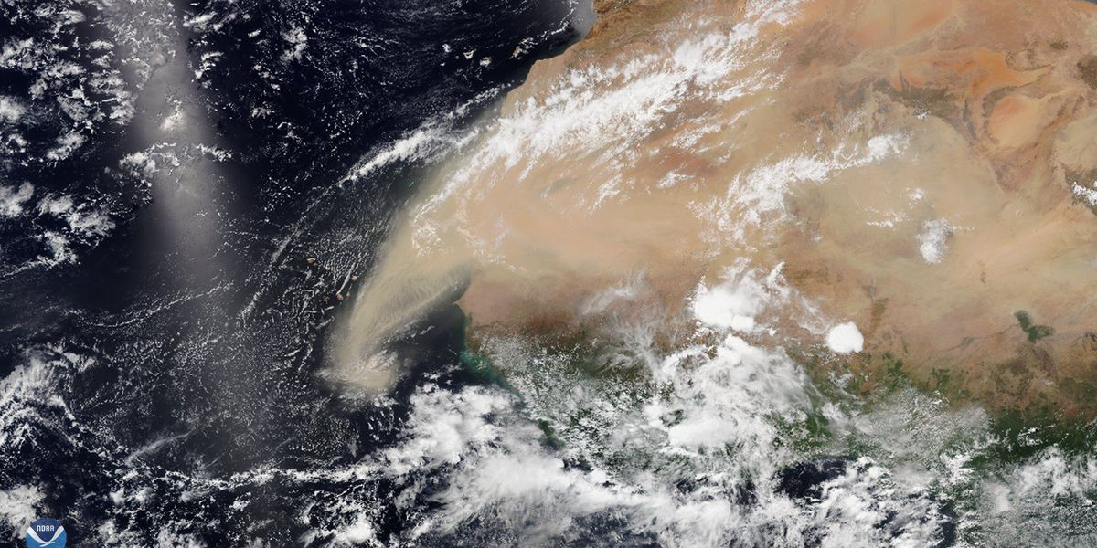 An 'Abnormally large dust cloud' is making a 5,000-mile trek across the Atlantic