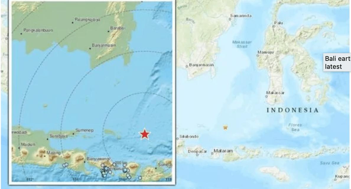 Strong Magnitude 5.7 Earthquake Strikes Off Coast Of Indonesia's Bali Island