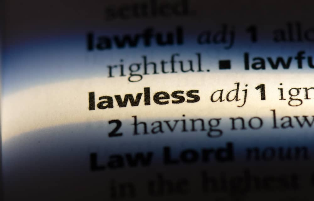"""The Spirit of Lawlessness is preparing the way for the """"Lawless One"""""""