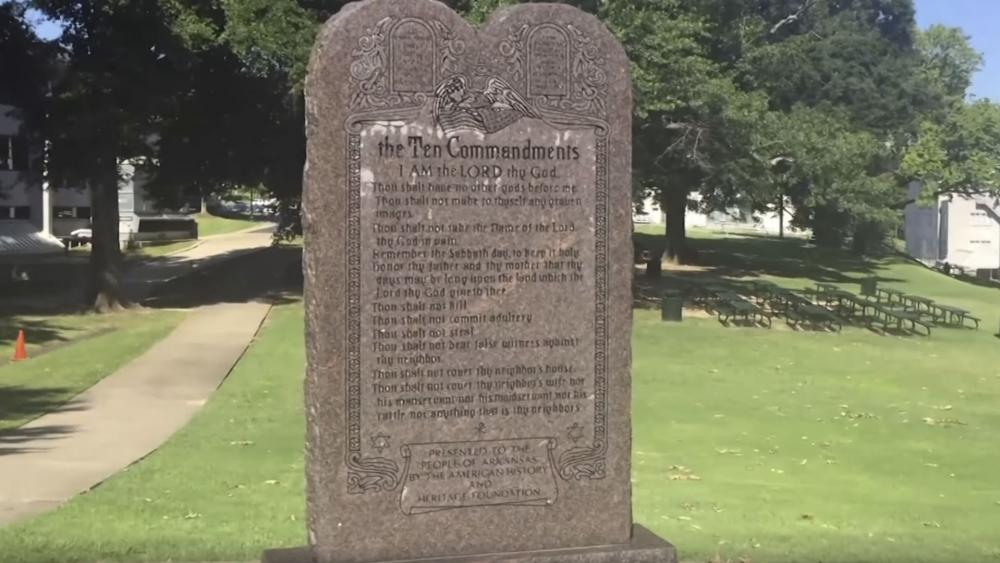 Man Arrested for Tearing Down Montana Ten Commandments Monument, Dragging It with His Truck