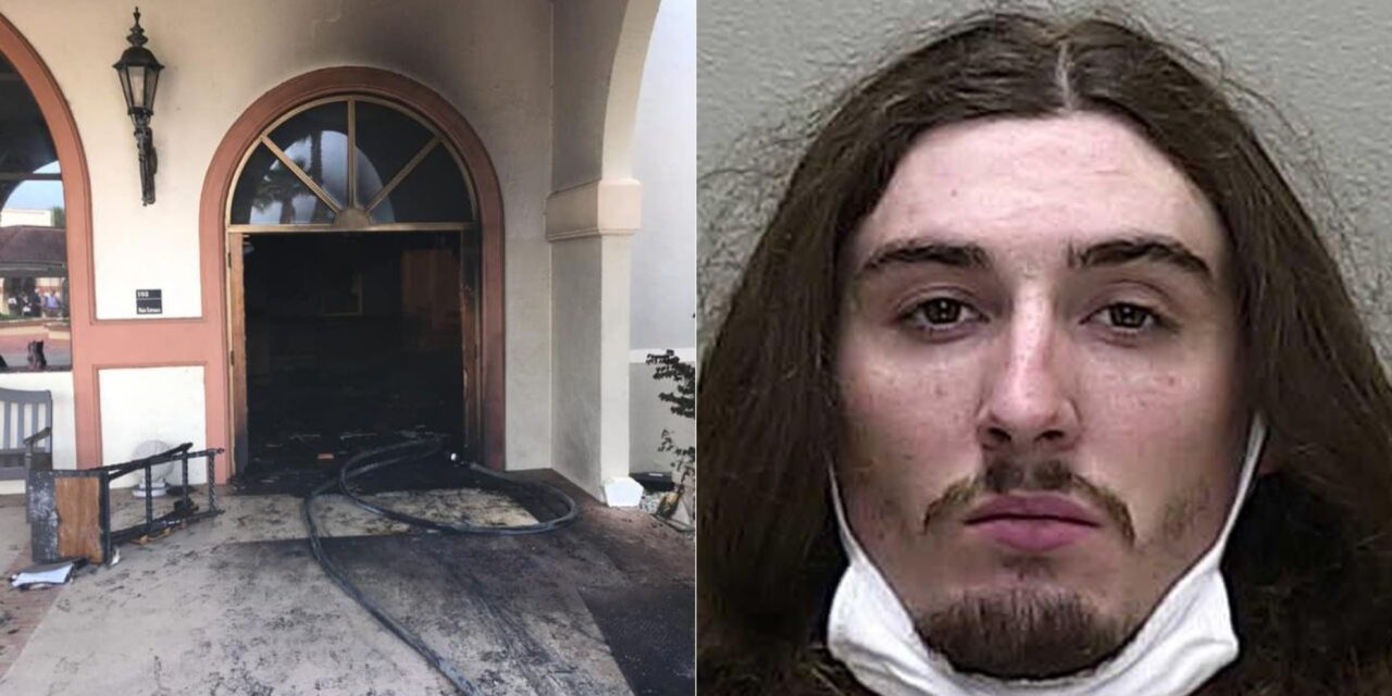 Florida man crashes into church, sets it on fire with parishioners inside