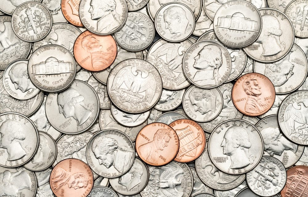 For the first time in history, Coin shortage prompts bank to pay you for spare change