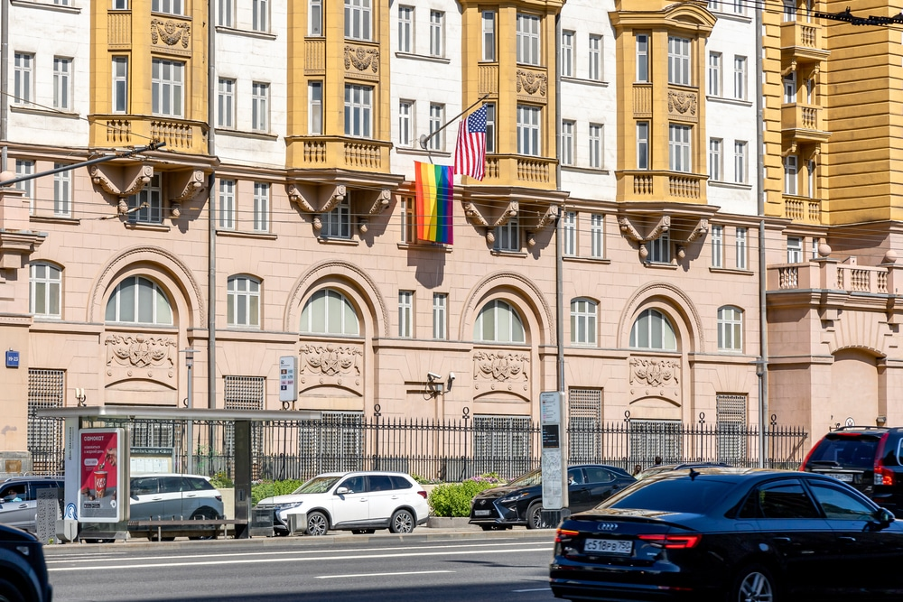 Putin mocks U.S. embassy for flying LGBTQ flag