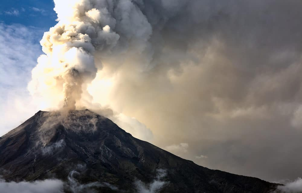 Multiples volcanoes erupting around the world along with hundreds of quakes striking near or under lava craters