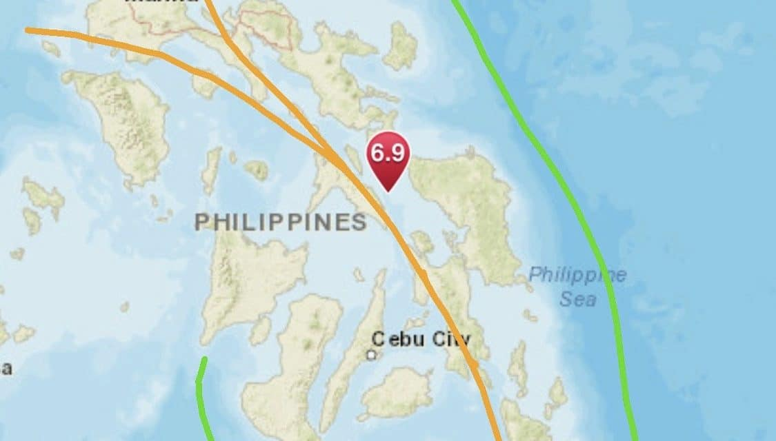 Strong Magnitude 6.9 Earthquake Strikes San Pedro, Philippines