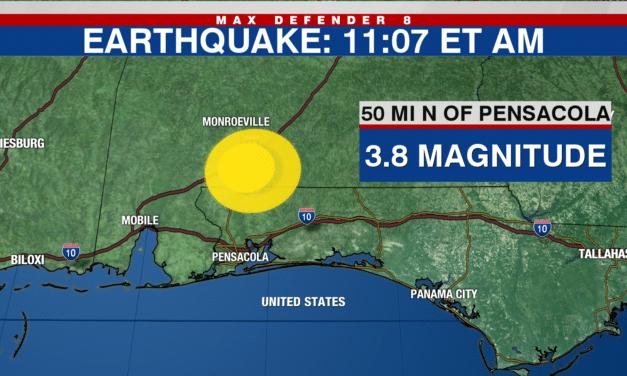 Rare Magnitude 3.8 Earthquake Rattles Florida-Alabama Border