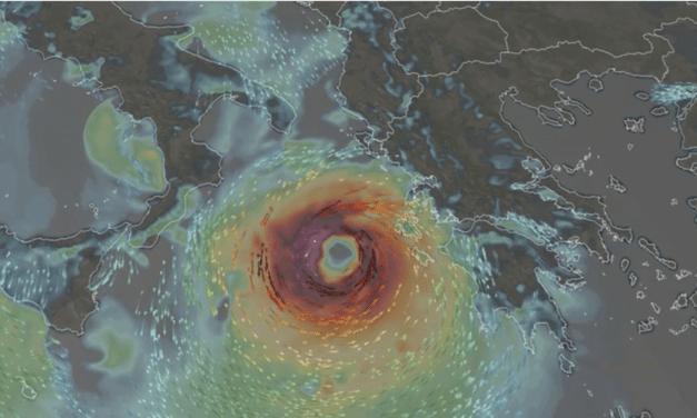 DEVELOPING: Rare Hurricane-Like Storm in the Mediterranean, Set To Strike Greece