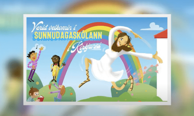 Church ad features bearded Jesus with women's breasts and make-up
