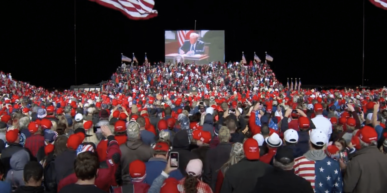 Red Moon Rises Over Trump Rally in Georgia
