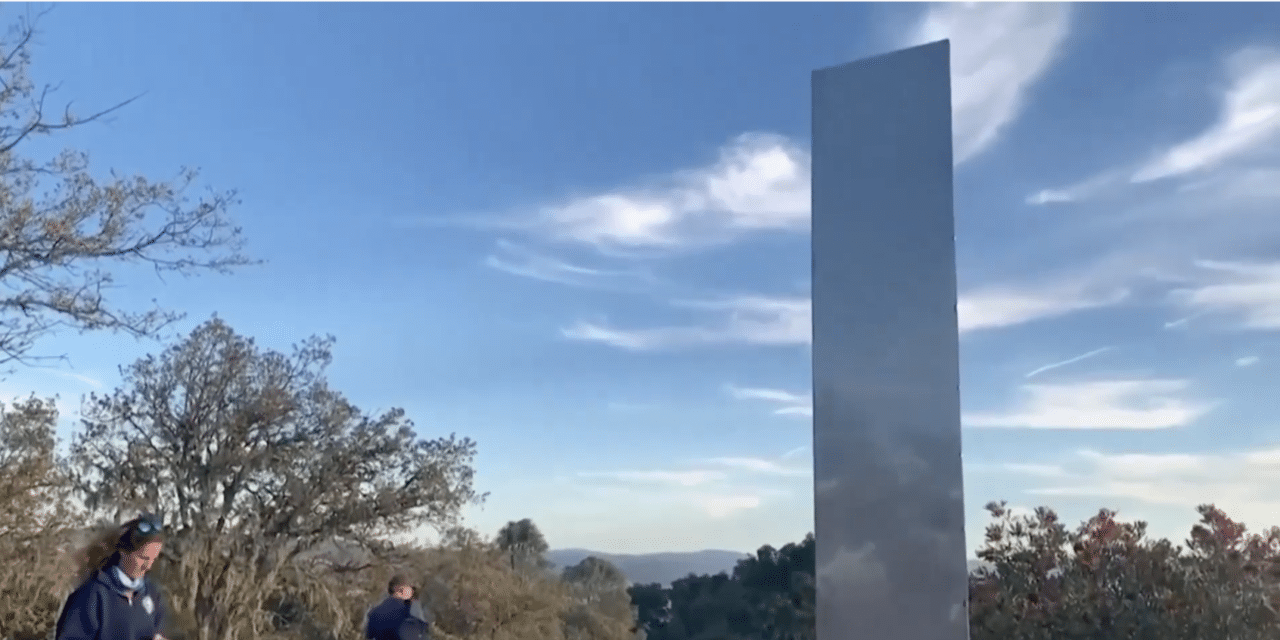 """What is the mystery behind all of the """"alien monoliths"""" that have been suddenly appearing and disappearing?"""