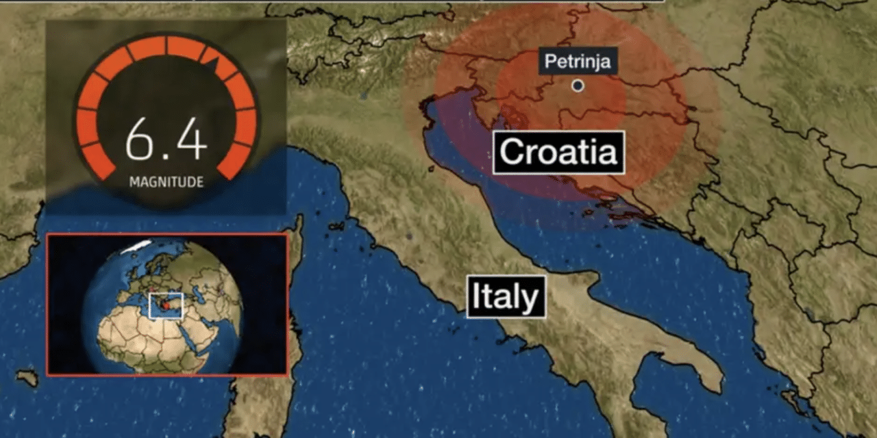Strong magnitude 6.3 earthquake strikes Croatia causing major damage to homes and buildings
