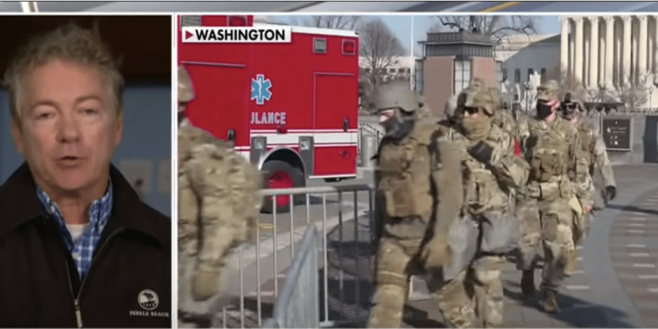 Rand Paul Warns DC is Becoming Militarized Zone